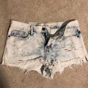 Abercrombie acid washed booty shorts